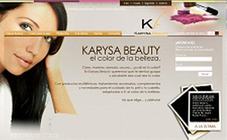 Karysa Beauty home mediterránea uno de los primeros webs de Snik Comunicacion