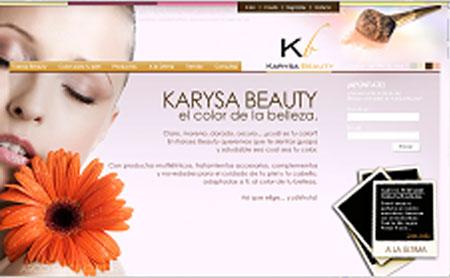 Karysa Beauty home piel blanca uno de los primeros webs de Snik Comunicacion