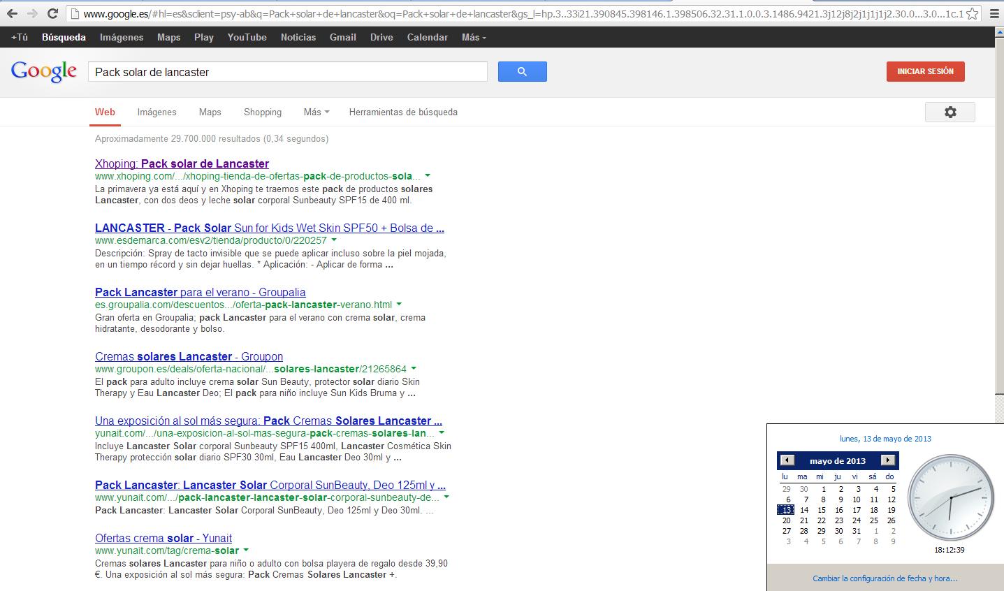 Indexación primera página en Google por Snik Comunicación