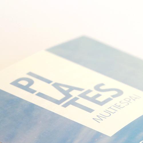Diseño del rótulo del local de Pilates Multiespai a partir del logotipo y la identidad corporativa de la marca en idioma catalán, ubicado en Roda de Barà (Tarragona).