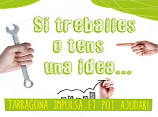 Campaña de publicidad III Jornadas Tarragona Impulsa anuncio para prensa escrita, emailing, díptico, calendario, baner, carteles, diplomas de asistencia y plafón de grandes medidas para el Ayuntamiento de Tarragona.