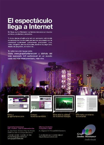Imagen del anuncio para el lanzamiento del nuevo web del Grup JMuntaner