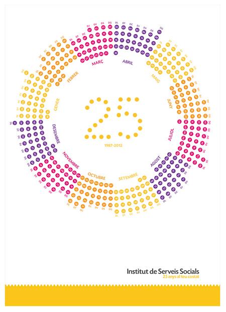 Diseño del calendario anual del Institut de Serveis Socials de Tarragona por Snik Comunicación