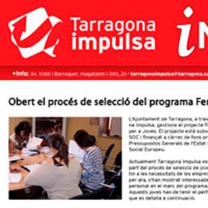Anuncio para el servicio del Ayuntamiento de Tarragona, Tarragona Impulsa, y adaptación de la pieza publicitaria a diversos soportes para su posterior publicación en prensa diaria.