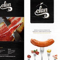 Diseño del catálogo de productos de Exclusivas Elan, especialistas en embutidos - Snik Comunicación