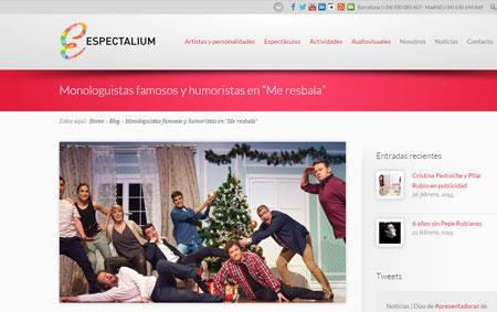 Imagen de Espectalium, creación de contenidos y noticia sobre monologuistas famosos