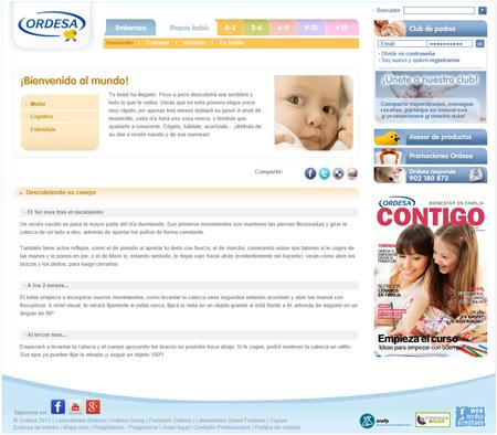 Creació de continguts del web Ordesa