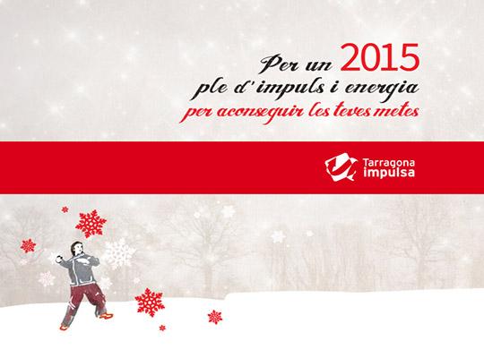 Pensar y diseñar una felicitación con un estilo diferente, propio y original es una de las tareas más complejas a la hora de crear una postal de navidad que atraiga la atención de los usuarios. Este ha sido el reto para la creación navideña de Tarragona Impulsa, felicitar las fiestas y el nuevo año 2015.