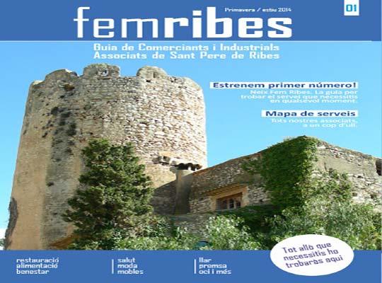 Fem Ribes es una guía de comerciantes e industriales asociados de Sant Pere de Ribes que ofrece infomación y servicios de sus asociados.