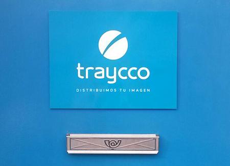 Placa porta traycco