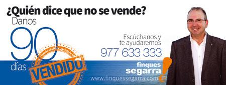 Diseño vallas carretera Finques Segarra por agencia de comunicación Tarragona