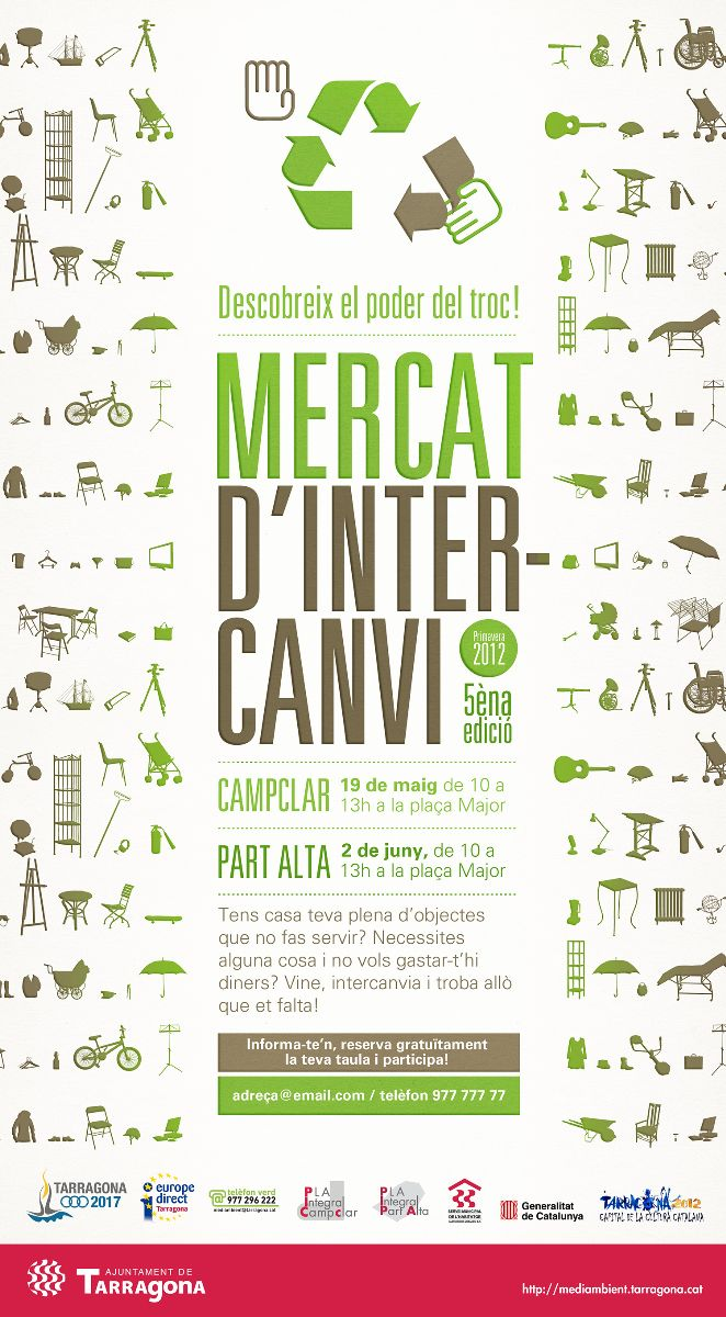 Creación de Flyer para el Mercat d'intercanvi del Ajuntament de Tarragona - Snik Comunicación