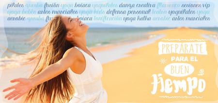 Imagen del diseño del flyer de Pilates Multiespai campaña primavera-verano