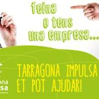 Diseño del díptico de las III Jornadas Tarragona Impulsa