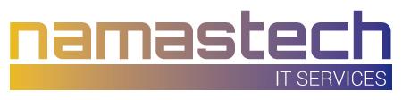 Diseño de logotipo para Namastech. Dirección creativa: Sonia Compadre. Dirección de arte: Carlos Gayo. Fecha: Enero de 2016