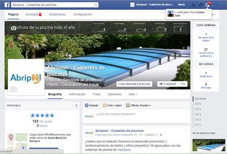 Imagen de Abripool ha confiado en Snik Comunicación para gestionar y dinamizar sus redes sociales de forma profesional en Facebook