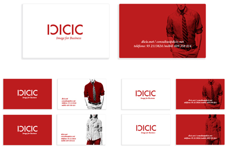 Diseño de la tarjeta corporativa de la empresa de asesoría de imagen Dicic por Snik Comunicación