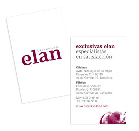 Diseño del logotipo y la papelería corporativa de Exclusivas Elan, especialistas en embutidos - Snik Comunicación.