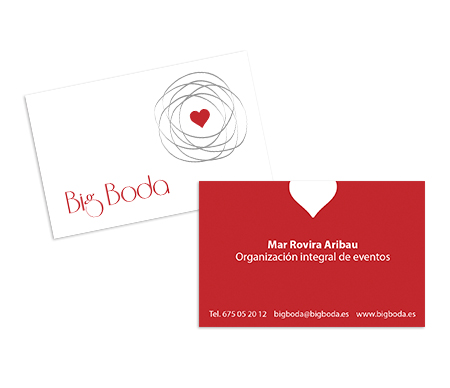 Diseño de la tarjeta corporativa de Big Boda