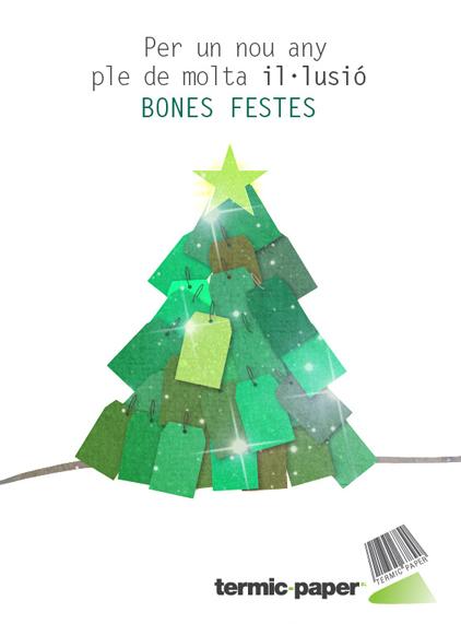 Imagen del diseño de la felicitación de Navidad realizada para Termic Paper