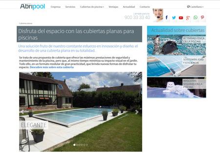 Imagen de web fácil de navegar, intuitivo, y que presenta novedades de periodicidad semanal relacionadas con el mundo de la pisicna y las cubiertas,
