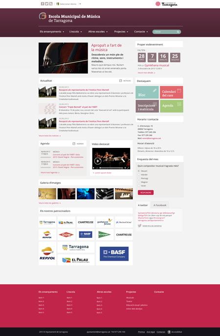 El ayuntamiento de Tarragona cuenta con nosotros para actualizar y mejorar el diseño del portal web