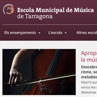 El ayuntamiento de Tarragona actualiza y mejora el portal web de la Escuela Municipal de Música. La nueva imagen apuesta por la innovación y adapta la estructura para la visualización del mismo en tres resoluciones de pantalla