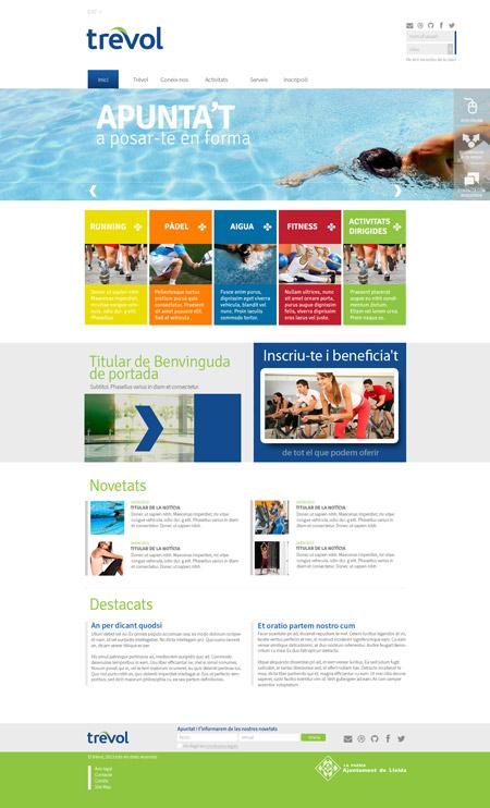 Diseño del web Trevol Lleida, un proyecto para ponerse en forma