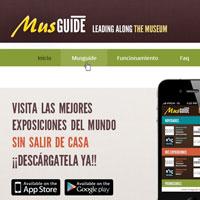 En este proyecto, Snik Comunicación crea el diseño y la dirección de arte del web para la página de internet de MusGuide, una app de museos.