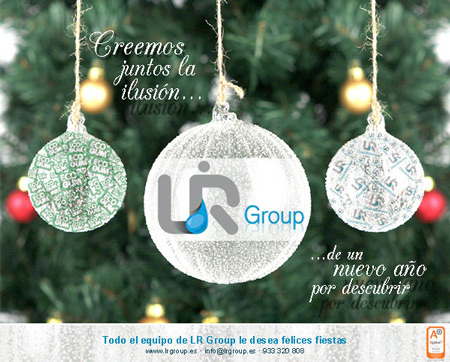Diseño de la felicitación de Navidad personalizada de la empresa  LR Group