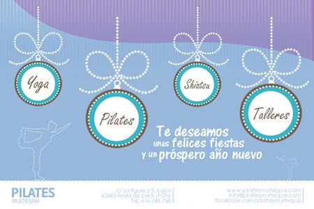 Diseño de la felicitación de Navidad online de la empresa  Pilates Multiespai