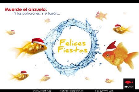 Diseño de la felicitación de Navidad online de la empresa Rec Fish