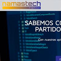 Diseño del web de Namastech, empresa informática de Barcelona.
