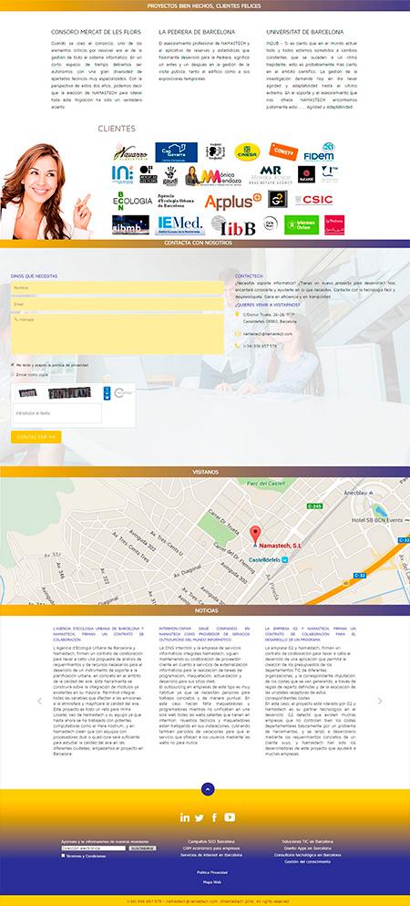 Diseño de la página de inicio
