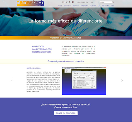 Página interior de 'Proyectos'