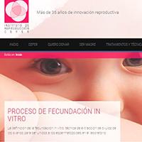 Diseño del web del Instituto de reproducción Cefer