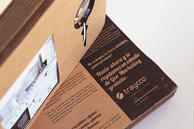 """Diseño y maquetación de un folleto formato tríptico para la campaña de Marketing Directo de Traycco """"Reloj"""" en la que se realizó un envío selectivo a 75 clientes para darles las gracias por todo el tiempo compartido con la empresa."""